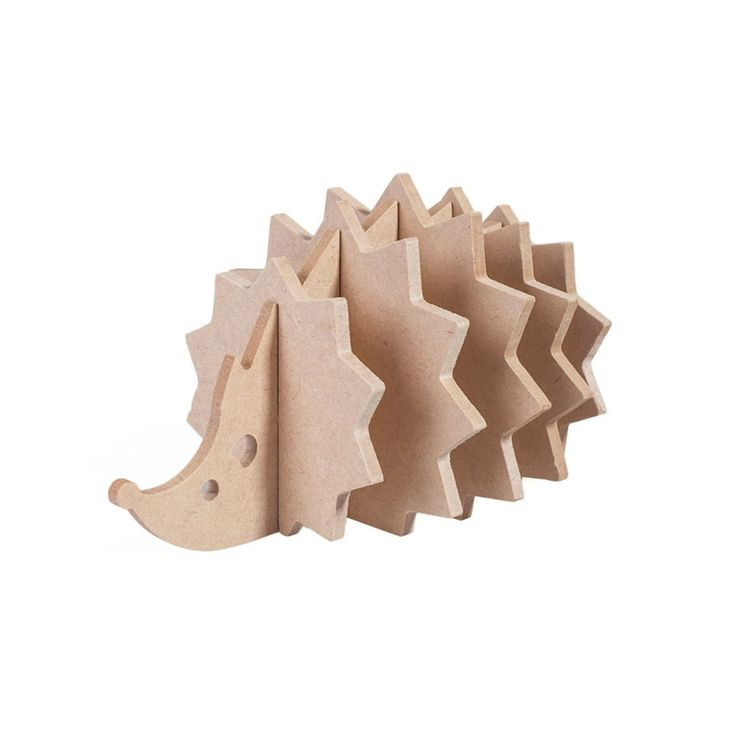 Cute Wood Coasters Hedgehog Shaped Set