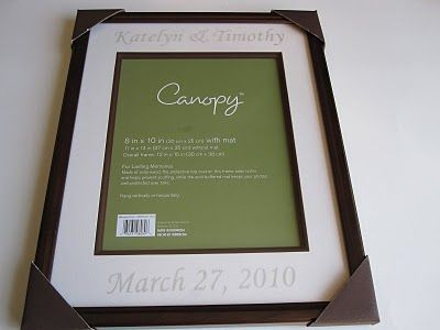 etched frame for wedding gift...