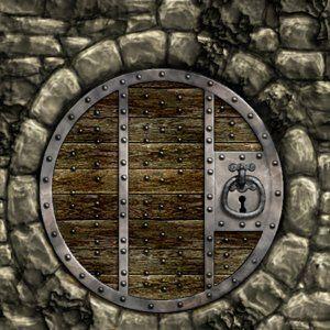 Not a real door but a great design for one doors for Door design round