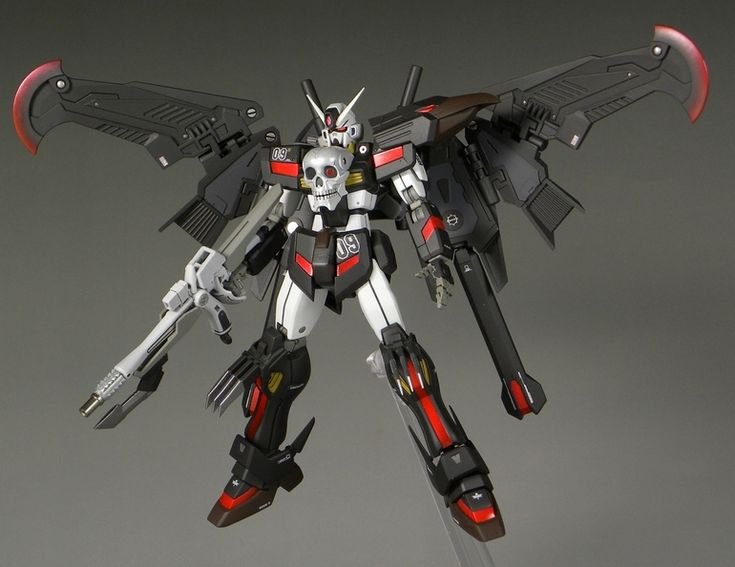 HGBF 1/144 Crossbone Gundam Crow - Custom Build     Modeled by roketwo