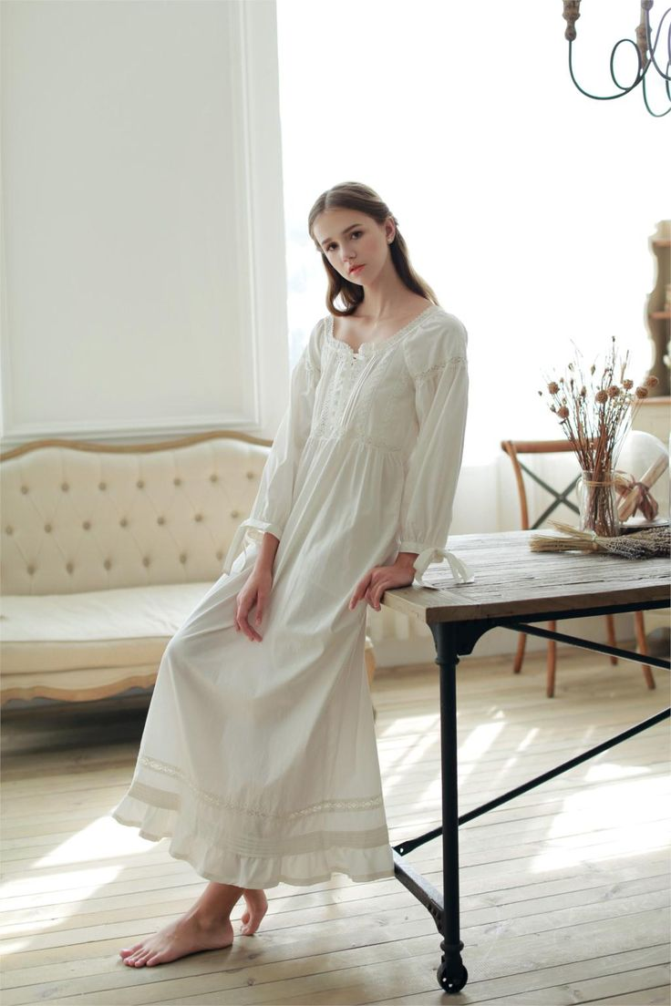 Aliexpress.com : Buy Hot Vintage Nightgowns For Women Full Length Pure Cotton Nightdresses Womens Sleepwear Long Home Dress Patterns Ladies Lounge from Reliable dress real suppliers on TNK Import And Export Co., Ltd. Store