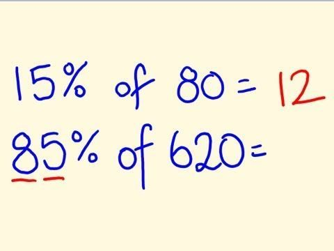 Percentage Trick - Solve precentages mentally - percentages made easy with the cool math trick!