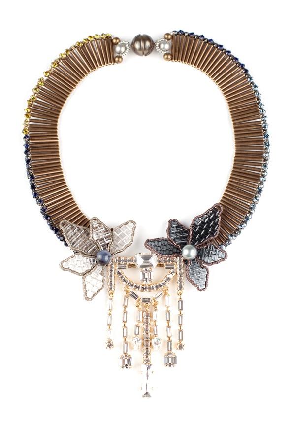 Tataborello blue swarovski necklace