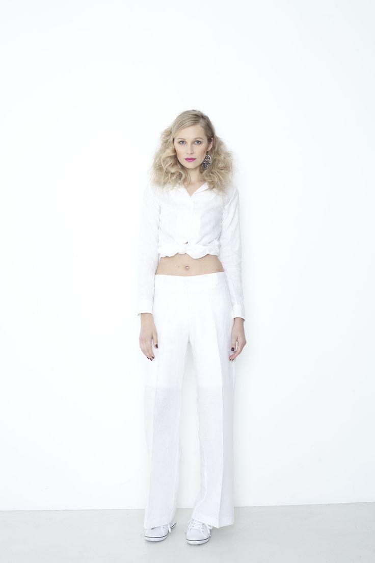Long Beach Shirt, Venice Pant - white