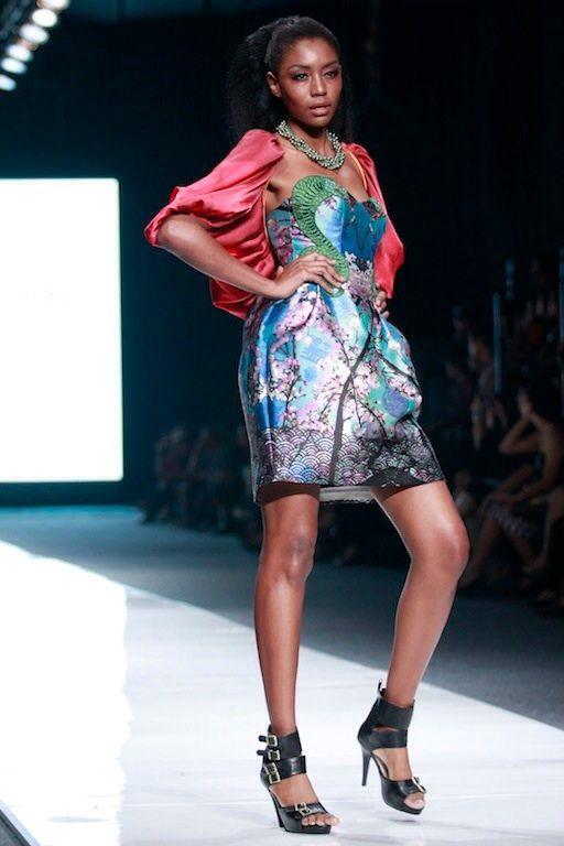 #BILLYTJONG Our 1st Ready To Wear Printed dress on Jakarta Fashion Week13 on Nov 2012 Look 3