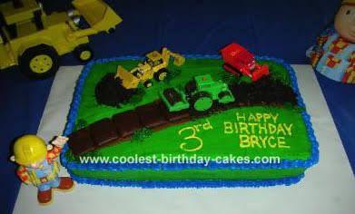 easy bob the builder cake - Google Search