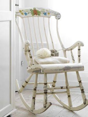 55 Cool ShabbyChic Decorating Ideas | Shelterness - lovely old rocking chair!