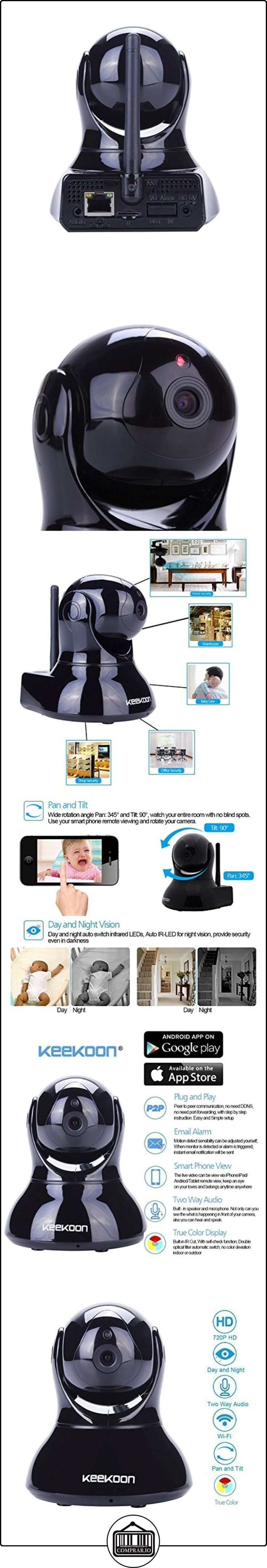 AGPtek (enchufe de la UE) P2P 720p (1280 x 720p) de video HD Mega camara de interior de la red WIFI de seguridad IP inalámbrica circuito cerrado de píxeles IR IR-Cut vision nocturna DVR integrado mediante tarjeta SD, audio de dos vías, Pan Tilt, deteccion de movimiento (Negro )  ✿ Seguridad para tu bebé - (Protege a tus hijos) ✿ ▬► Ver oferta: http://comprar.io/goto/B00X5DT866