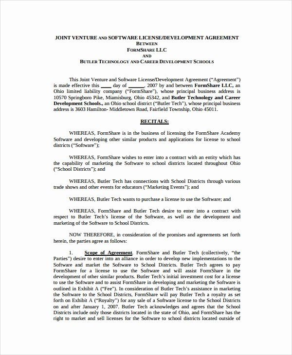 Software Development Contract Template In 2020 Contract Template