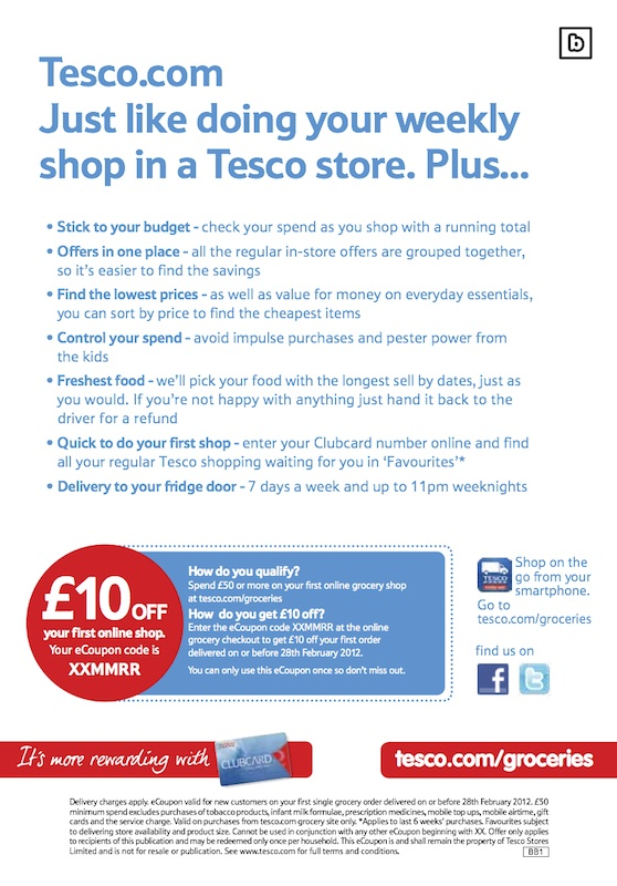 Discover recipes from Tesco and order your shop online! Just Blipp!