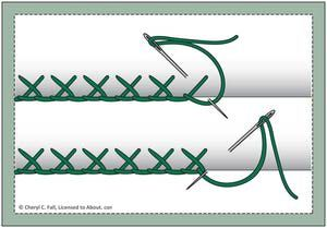 Every Embroidery Stitch You'll Ever Need: Buttonhole Stitch - Crossed