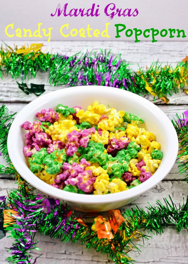 #MardiGras candy coated popcorn. #recipe
