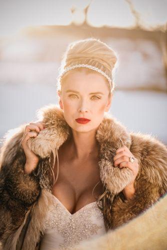 Russian Ballerina Bride  ALLURE hair and makeup