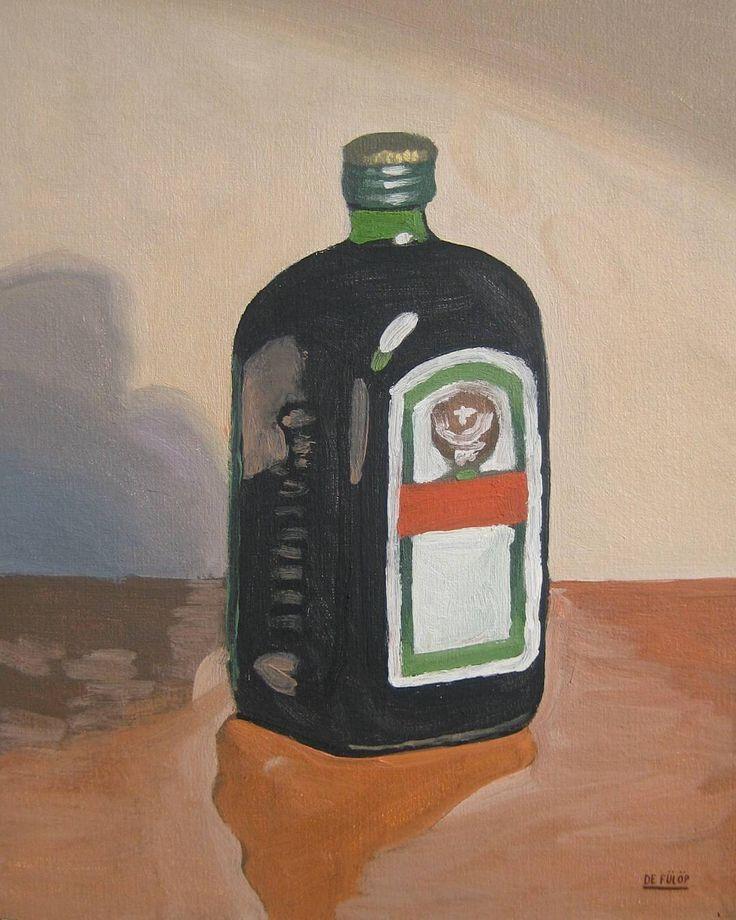 """""""Nice Bottle"""" (Oil Sketch) 24 x 30 cm #jagermeister #jager #jagerbomb #jagerbombs #bottle #oilstudy #oilpainting #oilsketch #allaprimapainting #arts_help #talentedpeopleinc #fineartgallery #fineart #bellasartes #artgallery #magicgallery #featuremyart #studiopainting #jägermeister #aperitivo #wolfenbüttel #botella #boceto #artwork #kunstwerk by nicolasdefulop"""