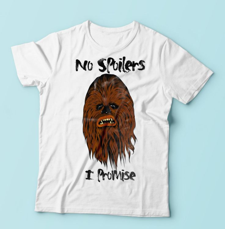 New to CrazyPugPrints on Etsy: Star Wars The Force Awakens - Sad Chewbacca - No Spoilers I Promise (6.99 GBP)
