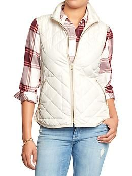 Just got this vest online! So excited to wear it!!  Women's Quilted Zip-Front Vests | Old Navy