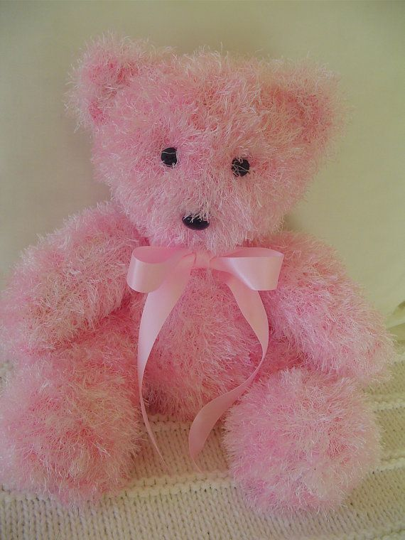Teddy Bear Easter Teddy Bear Hand Knit Teddy Bear by Ednascloset