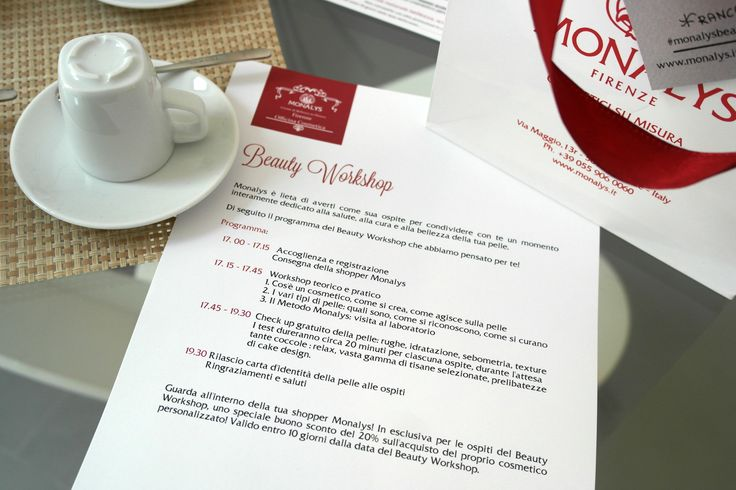 Monalys Beauty Workshop Programm, a new way to relax and take care of yourself.