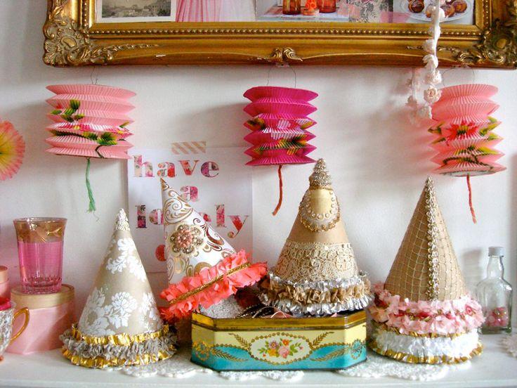 Handmade party hats