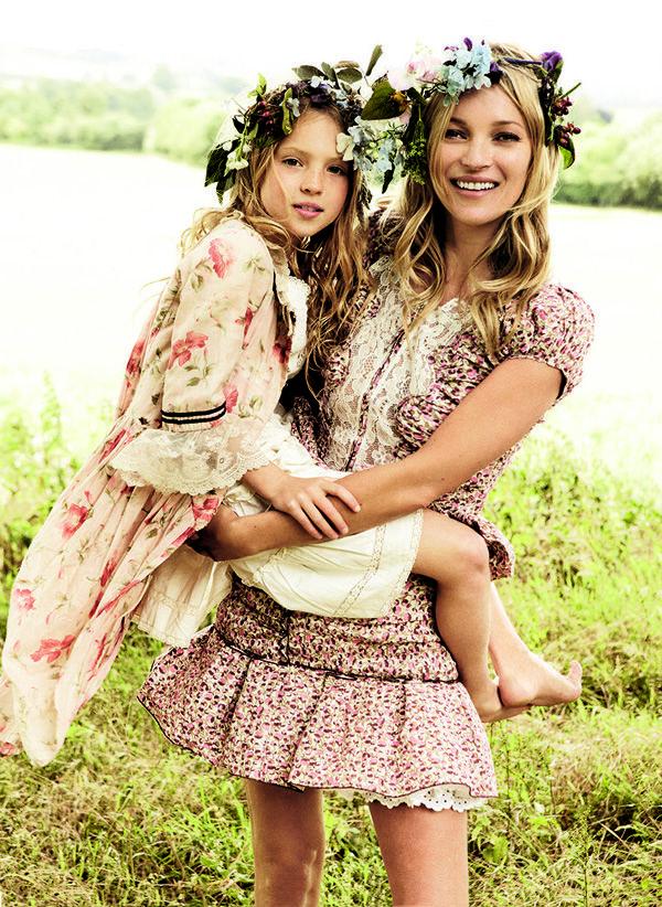 Кейт Мосс с дочкой для Vogue США