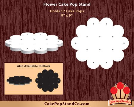 What a pretty way to display Spring cake pops! Flower Cake Pop Stand