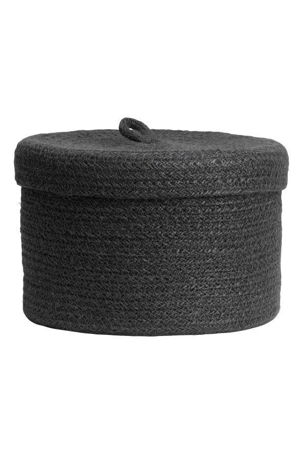 Braided Jute Basket Charcoal Gray H M Home H M Us Salem Lyfe