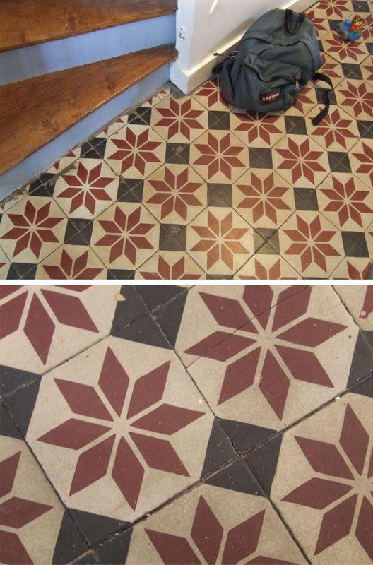 7 best rev tements carreaux peintures papiers peints images on pinterest cement tiles. Black Bedroom Furniture Sets. Home Design Ideas