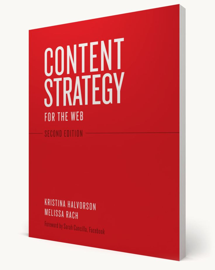 A great book with a solid guide on how to manage your content and implement strategies to keep it relevant, moving, and useful.