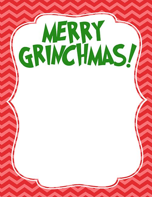 The Grinch Handprint Christmas Card With Printable