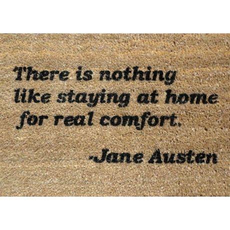 Door mat for hobbits like me.:  Welcome Mats, At Home, Quotes Doormats, Outdoor Entrance, Jane Austen, Entrance Rugs, Doormats Outdoor, Austen Quotes, Austen Doormats