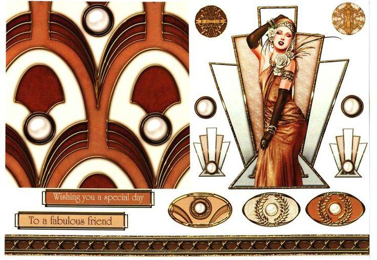 Debbi Moore Designs - Art Deco Lady - Amber