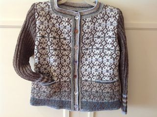 The kit includes, beads, sequins,mother of pearl buttons, besides the Wool. I ordered the kit from SidselHoivik.No. Easy fast transaction. The jacket turned out very well! I followed Sidsels instru...