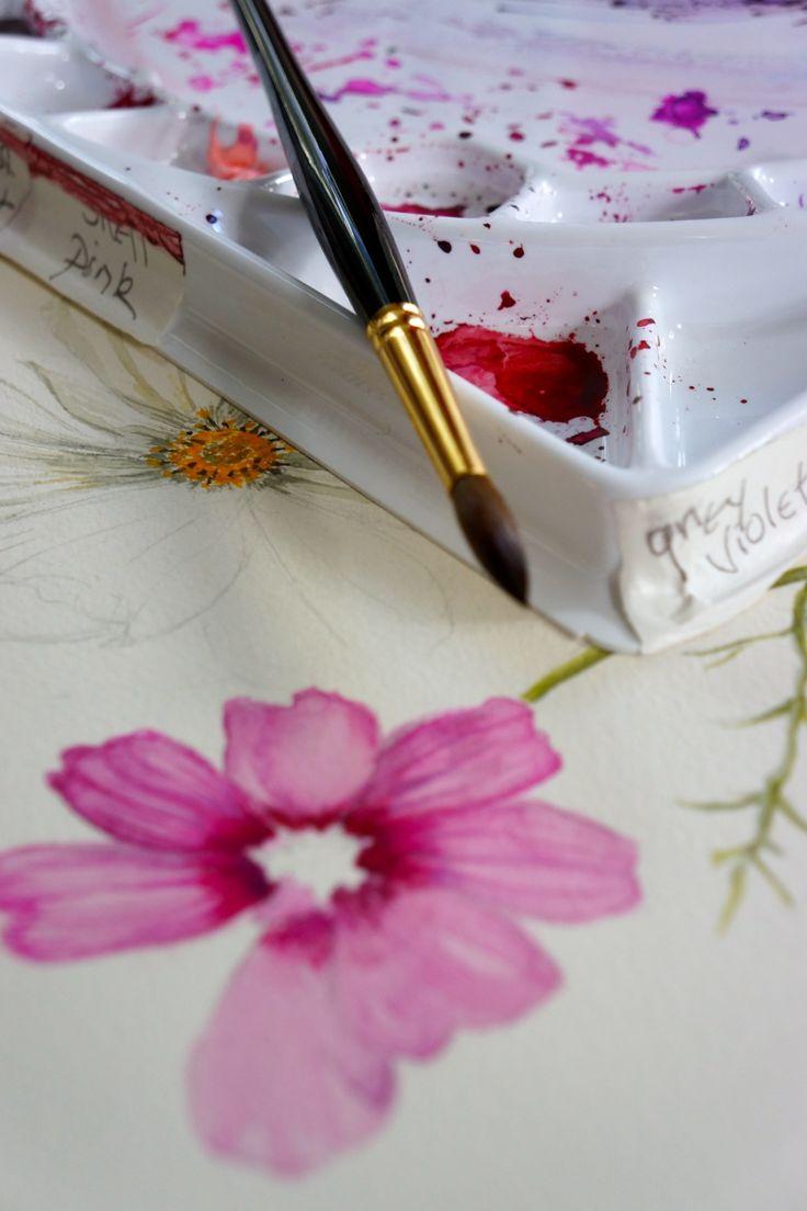 Botanical watercolors -- my dream