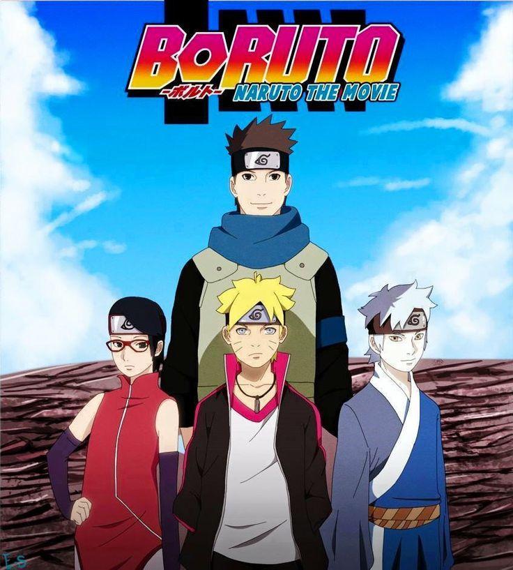 Anime Naruto Shippuden Boruto The Origin Of The Name: Team 7 New Gen With Konohamaru Sensei