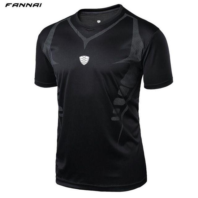 Men Outdoor sports Running Fitness Morning run Tennis Breathable badminton male t-shirt Walking jogging tops sport shirts tees