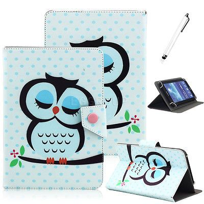 """US For Insignia Flex 7"""" 8"""" 10"""" inch Tablet Universal Printing Leather Case Cover"""
