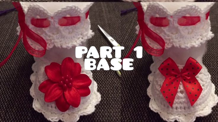 Crochet Slippers - FREE -Tutorial - baby - party - Christmas - slippers