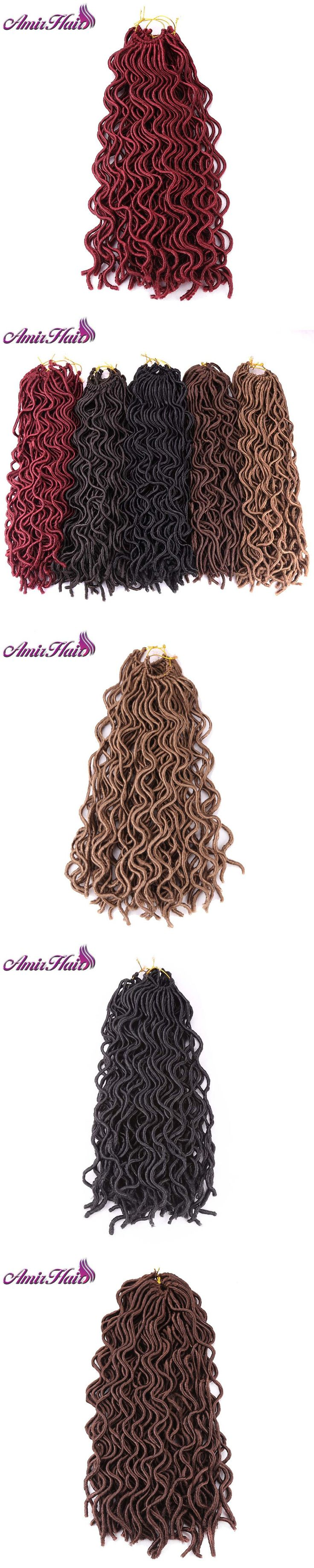 Amir Hair  Long Synthetic Fauxlocs  Curly with  22inch  24 strands  Black and Blond and Burgundy  Crochet   hair extensions