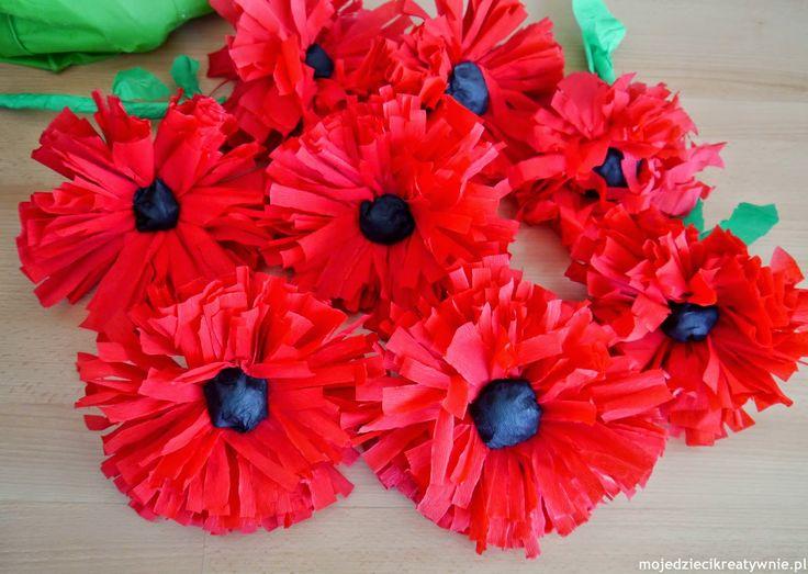 Kwiaty Z Bibuly Diy Moje Dzieci Kreatywnie Flowers Diy Creative Creative Kids