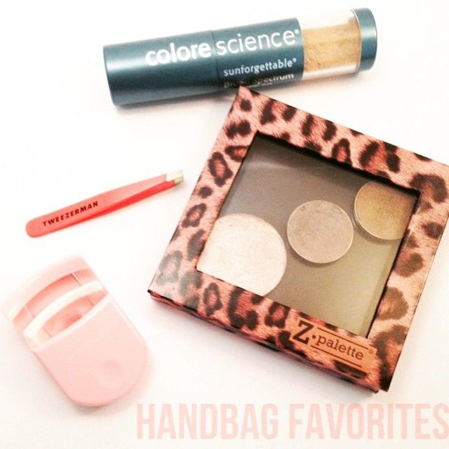 These small goodies are a must when you want to save up the space in your purse The sunforgettable is so great to use during the day when you want to re-apply sunscreen without removing your makeup Perfect to use for men too Z-pallette's are perf to bring your favorite shades every time.