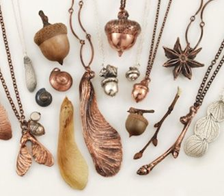 """Sydney Jewellery School - """"Electroplating & Electroforming"""" Learn how to turn small items such as twigs, leaves, seashells and other small objects into copper! This process is called electro-forming and we will take you through each step to ensure you have the confidence you need to understand this process."""