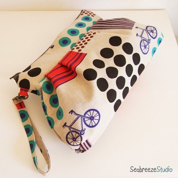 Handmade Bicycle Wristlet Bag