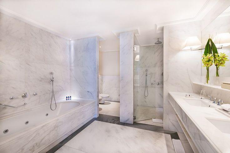 Villeroy & Boch equipa los baños de las habitaciones del Hotel Majestic, un lujoso hotel de 5 estrellas situado en el Paseo de Gracia, desde 1918.