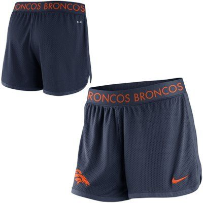Nike Denver Broncos Women's Navy Blue Ultimate Mesh Shorts