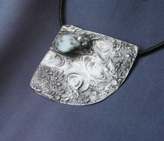 Jewellery Necklace Larimar and a mixture of metals