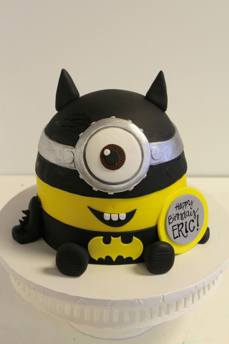 minion template for cake - batman minion cake boy 39 s birthday cakes pinterest