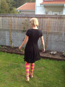 used smaller midriff and skirt in back for swayback red velvet cake