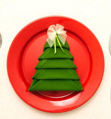 Karácsonyfa alakú szalvéta - hajtogatással / Mindy -  kreatív ötletek és dekorációk minden napra