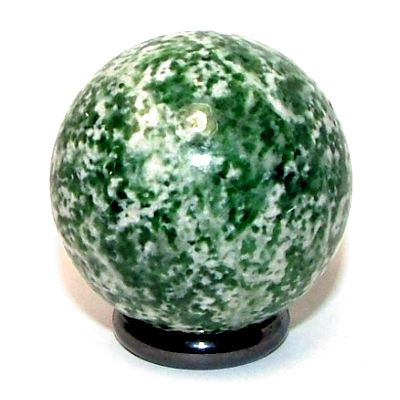 Tree Agate is the common name for Dendritic Agate. It is known as the stone of plenitude. Place this ball anywhere that you want to encourage abundance and fullness.    Some of the benefits of tree agate include:    Enhances the health of house plants  Creates a peaceful environment  Deepens your connection to the earth  Be patient when using dendritic agate. It works slowly and takes time to be effective. Use it to encourage a more centered viewpoint in life.