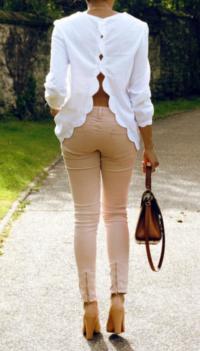 Scallop blouse.